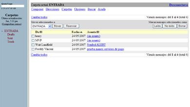 Webmail de Dominios HispaVista