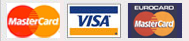 MasterCard, Visa, EuroCard